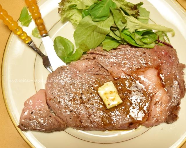 上州肉のステーキを頂いた ふるさと納税「さとふる 上州牛ステーキセット:サーロイン 500g(2枚入りセット)」