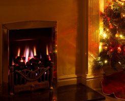 暖かい暖炉