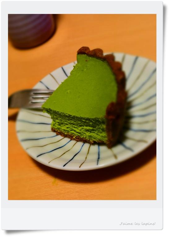 伊藤久右衛門の2つのチーズケーキ、ゆめふたばの、抹茶チーズケーキのほう。