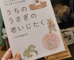 うさぎの飼育本「うちのうさぎの老いじたく」