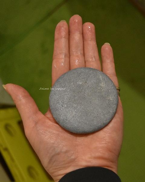 丸二ヶ月使用した竹塩石鹸画像