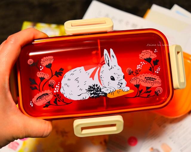 もぐもぐウサギのお弁当箱・赤いお弁当箱
