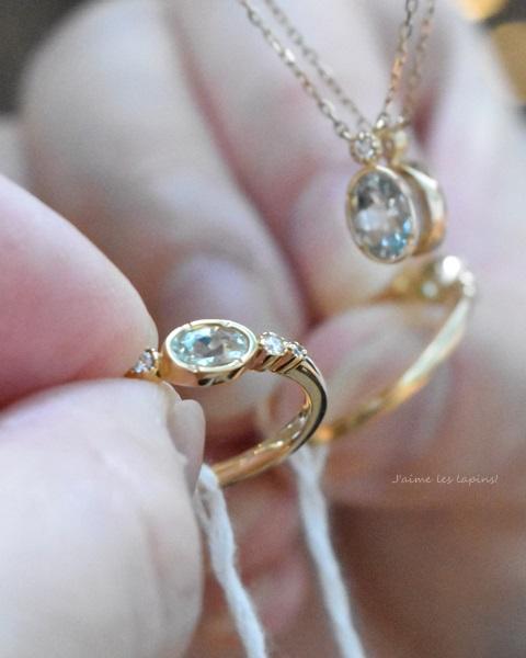 アンブリゴナイトの指輪「フランシーネ」