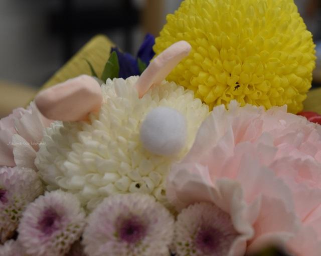 日比谷花壇敬老の日アレンジメントうさぎのおちり