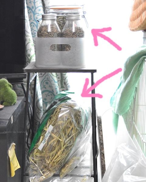 フェリシモのカフェテーブルはうさぎのゴハン棚