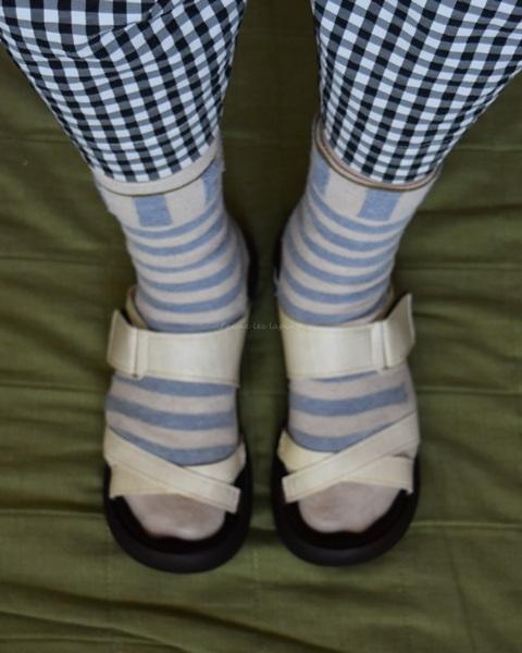 リゲッタカヌーを靴下で履いた