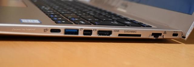 マウスコンピューターB401の右側面