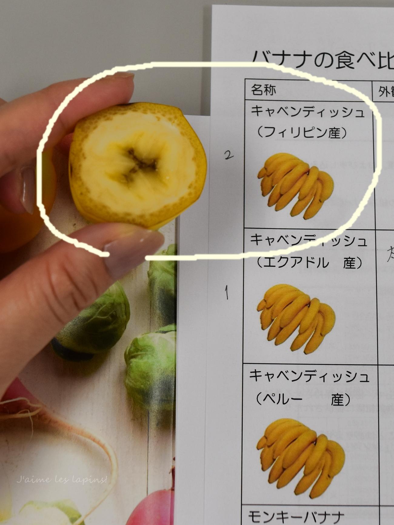 野菜ソムリエ講座バナナ②