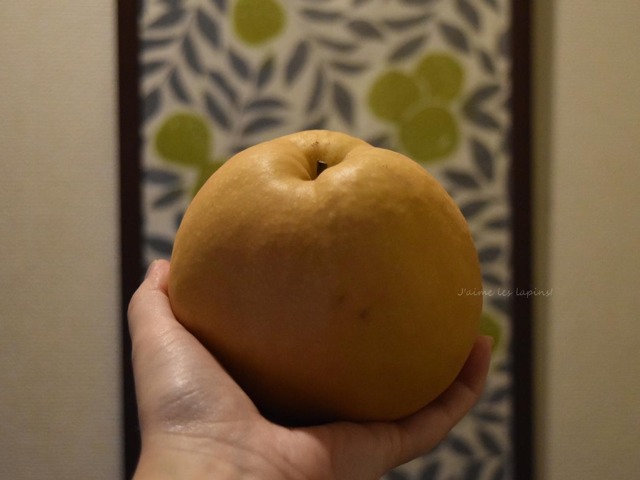 うさぎに梨