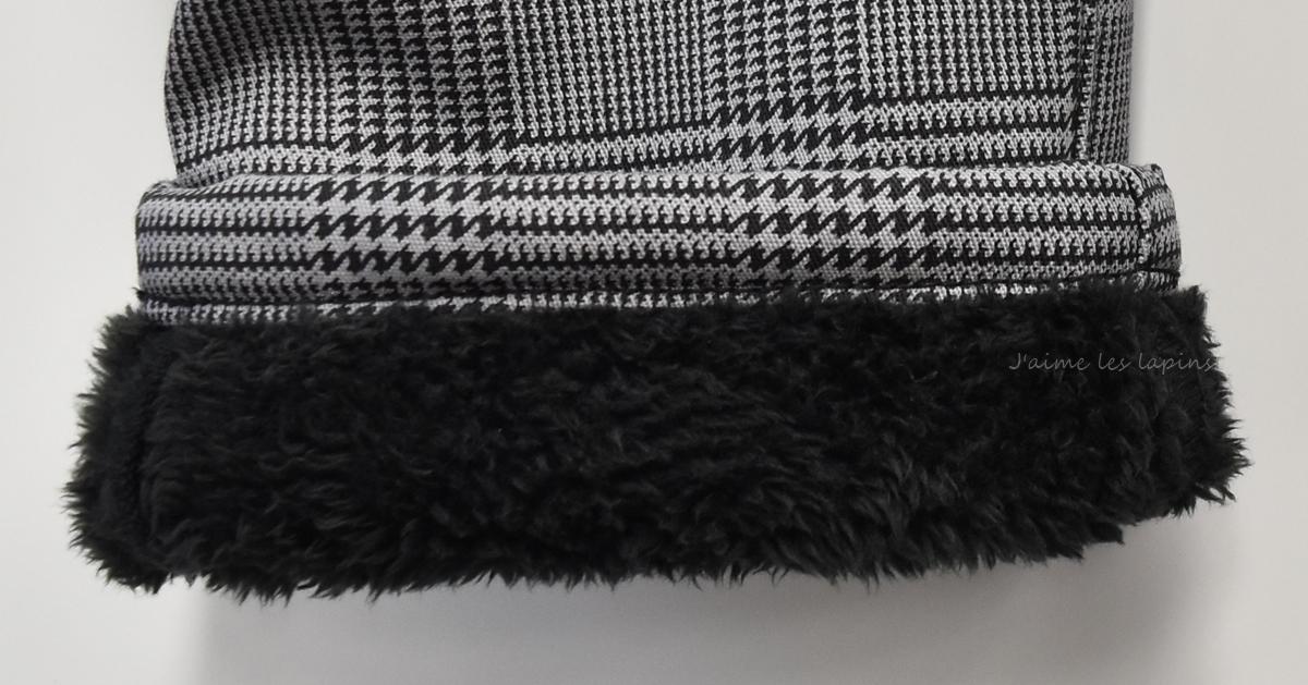 フェリシモ裏ボアパンツ2019ボアの様子裾