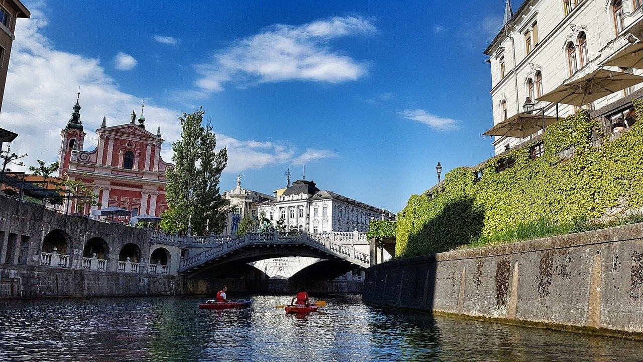スロベニア首都リュブリャナの川