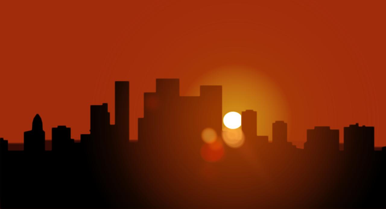 夕方帰宅後の窓の風景イメージ