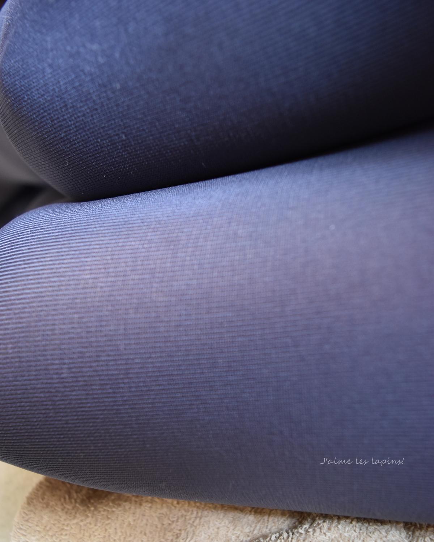 靴下屋のプレミアムタイツ「インクブルー」80デニールの薄くなる部分