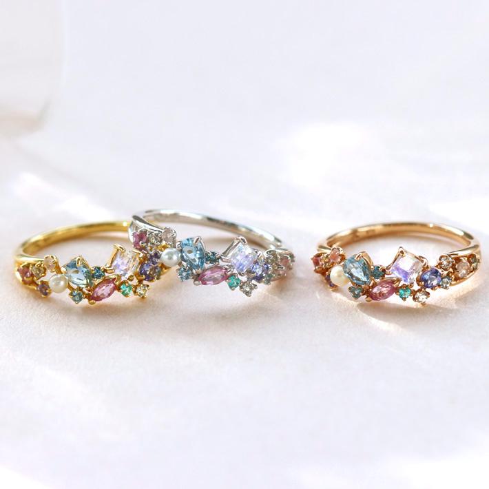 ビズー指輪3色