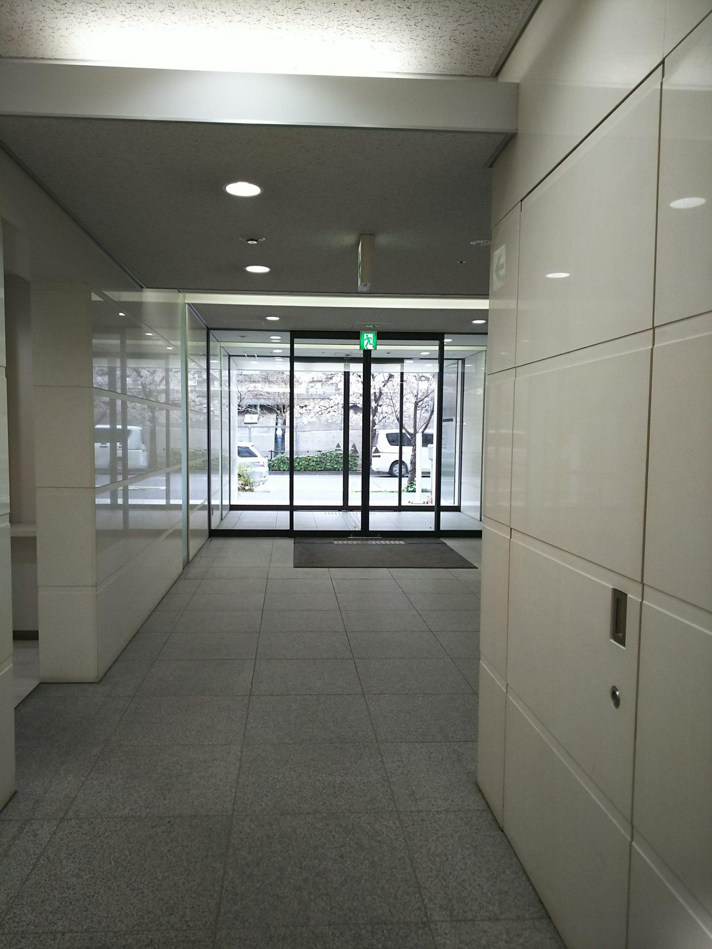 東京のビルの中