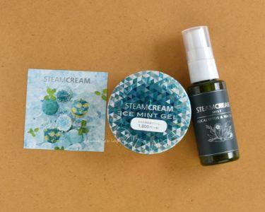 STEAM CREAMアイスミントジェルと、花粉やマスク用のミスト