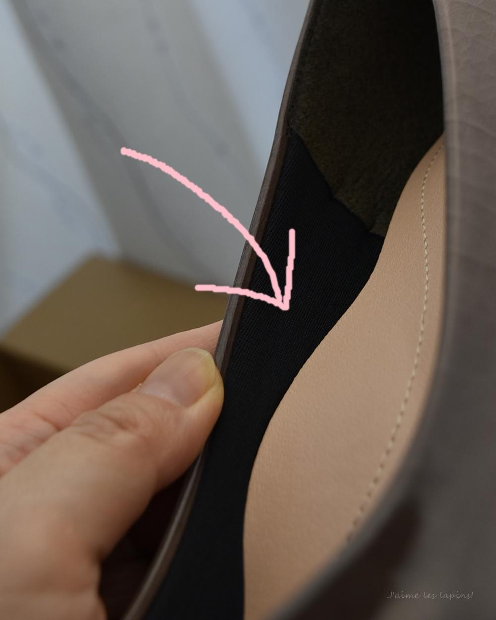 靴内側の側面