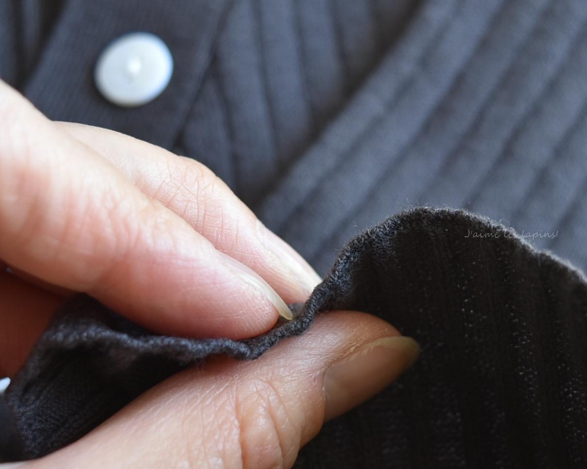 薄めの編み物