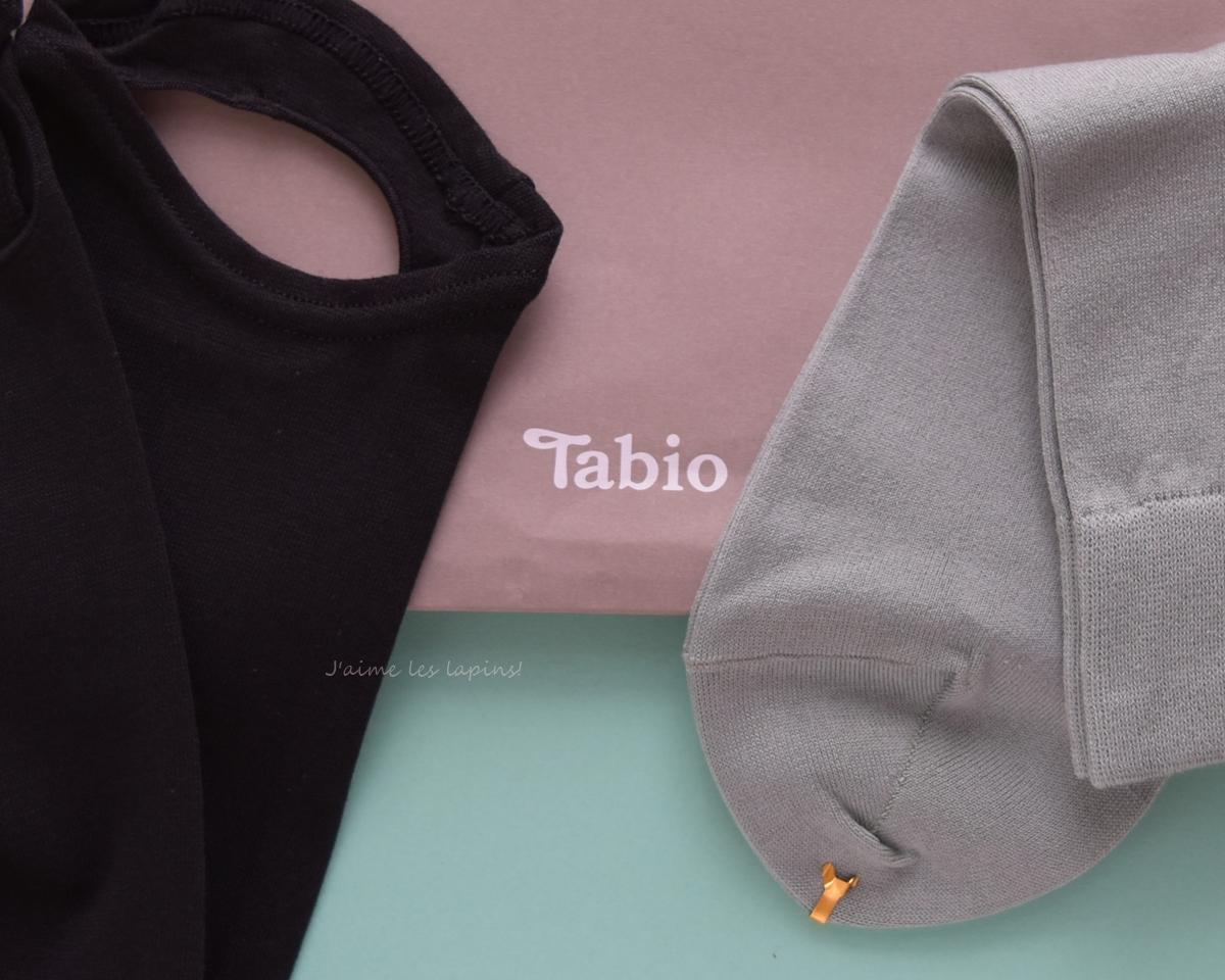 タビオのレギンスと靴下のアップ