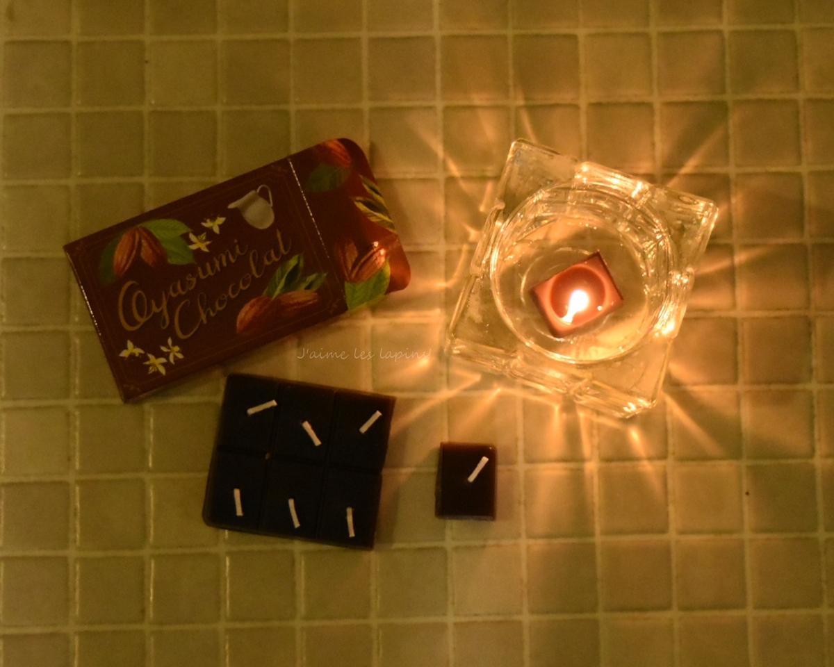 板チョコキャンドルを灯した