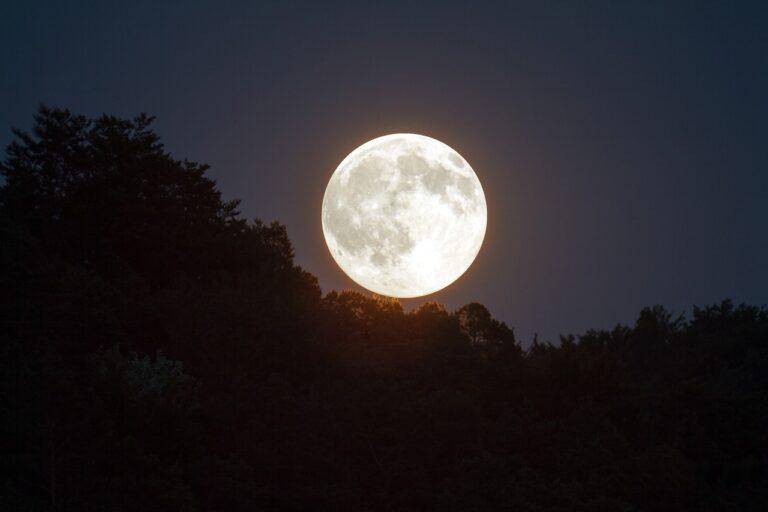 十五夜の満月イメージ