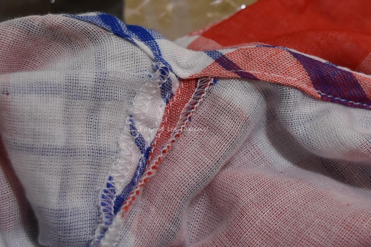 フェリシモ着るバスタオルの裏の縫製