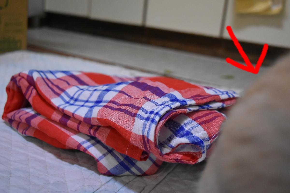 うさぎがフェリシモの着るバスタオルをスルーした