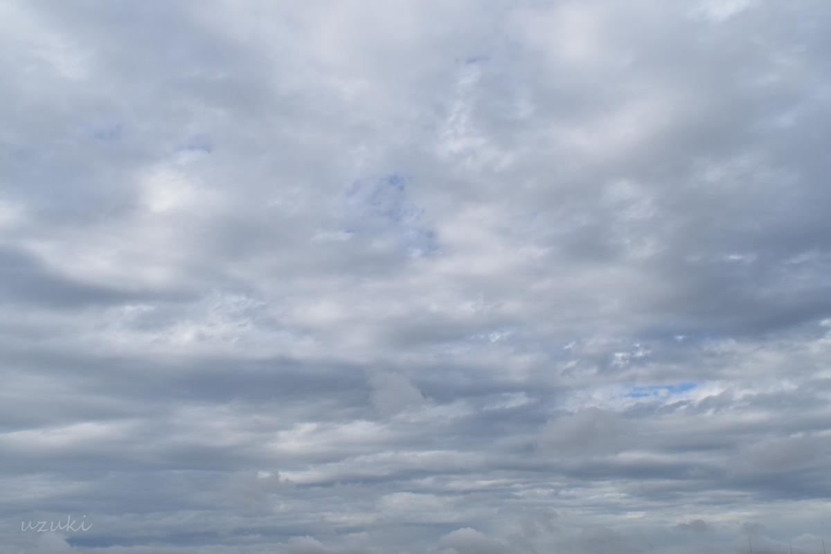 晴れとされる曇り空
