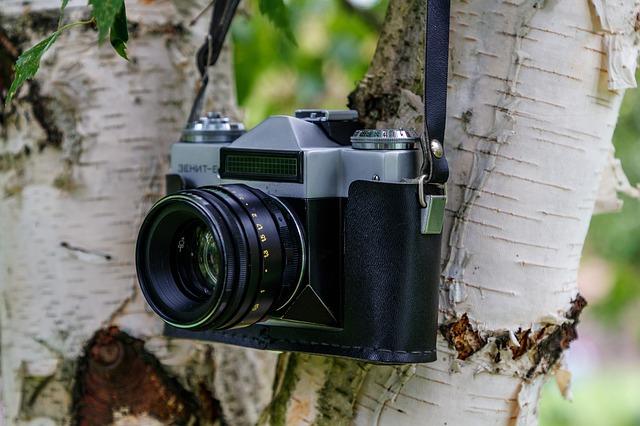 昔の一眼レフカメラ